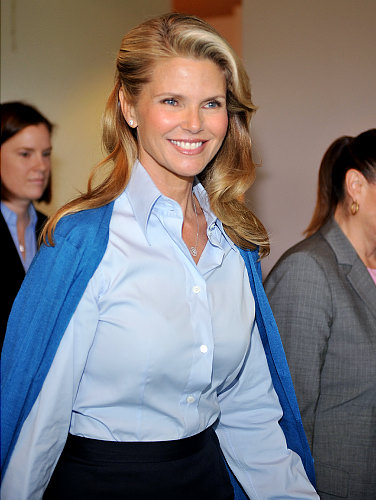 DelMundo for News. Christie Brinkley arrives at court Thursday on the day she's scheduled to testify.