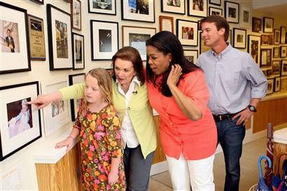 Oprah Winfrey visited John Edwards and his wife, Elizabeth, at their home in Chapel Hill for a taping.(George Burns/AP)