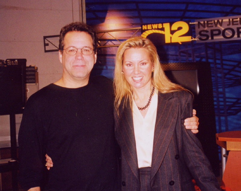 author at TV studio with singer, Cliff Eberhardt