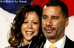 Gov. David Paterson admits to sleeping with another woman while he was married to wife, Michelle. Goldfield for News