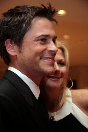 Rob Lowe and his wife Sheryl. Getty Image